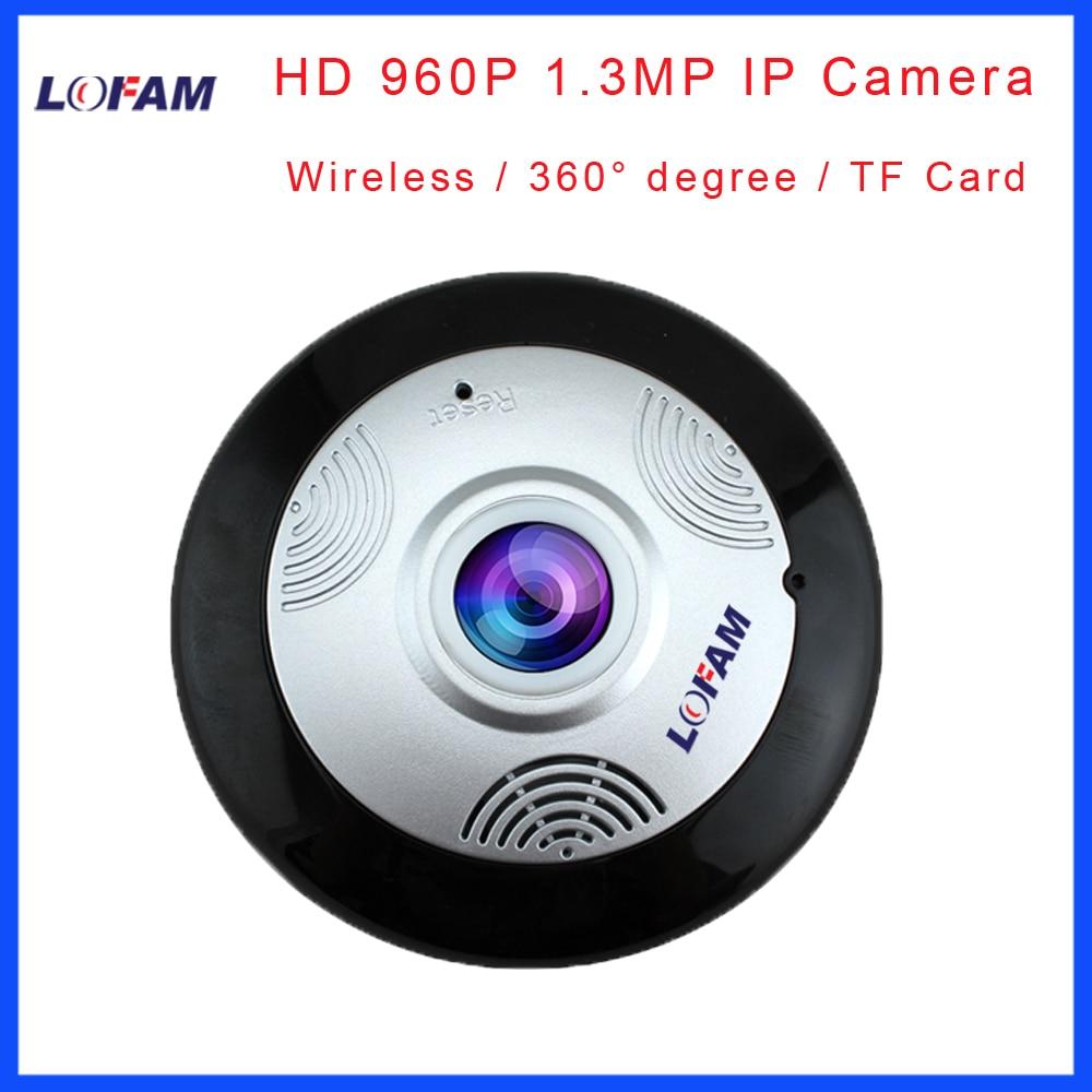 LOFAM HD 960P 1 3MP 360 Degree Fisheye Panoramic Camera HD Wireless Panorama CCTV IP camera