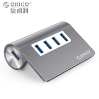 ORICO Aluminum Mini USB 3 0 Hub 4 Ports 5Gbps High Speed Hub USB Portable USB