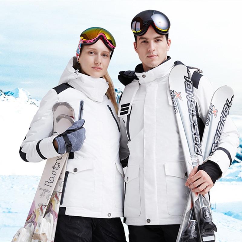 Offre spéciale hiver extérieur Couple Ski chasse à la neige pêche vêtements de sport en coton femmes manteau chaud Camping imperméable coupe-vent vestes
