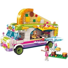 City Girls Princess Pizza Dining Car Bus Building Blocks Sets Bricks Model Kids Classic Compatible With Sermoido Friends