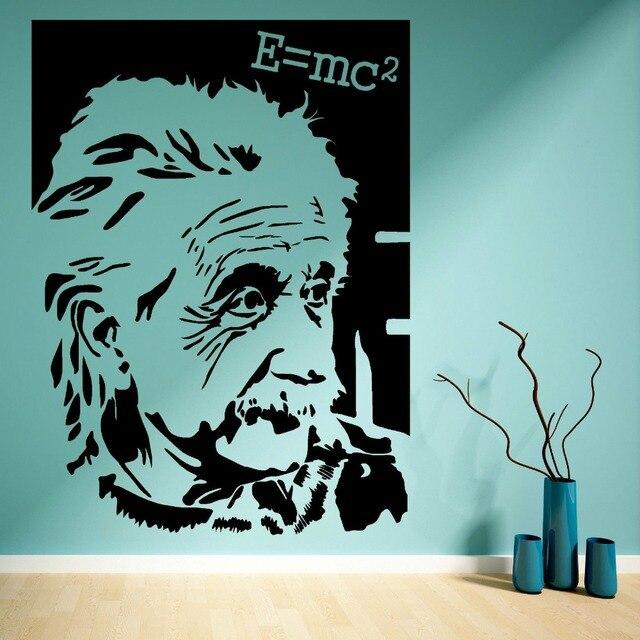 Big size ALBERT EINSTEIN E=mc2 VINYL WALL ART STICKER MURAL DECAL ...