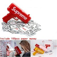 Make It Rain Money Gun Supreme Cash Cannon Ss17 100PCS Bills Fashion Party Gift Game Christmas