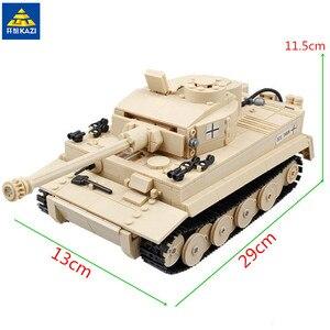 KAZI 995 шт., военные строительные блоки, панзер, King Tiger Tank, кирпичная игрушка 82011