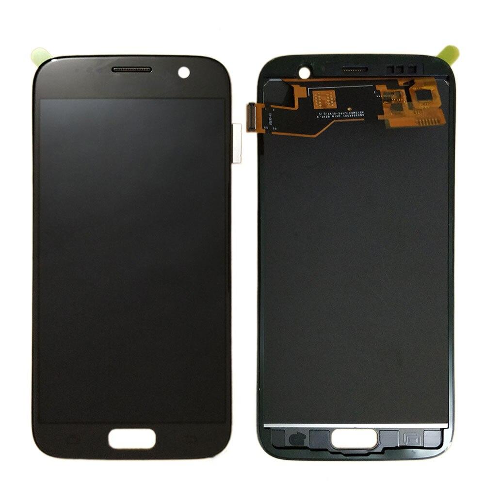 Pour Samsung Galaxy S7 G930 G930F LCD écran tactile numériseur assemblée 100% Test TFT LCD luminosité réglable remplacement
