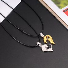 X&P Fashion 1 set Unisex Women Men I Love You Heart Shape Pendant Necklace For Lovers Couples Jewelry Gift