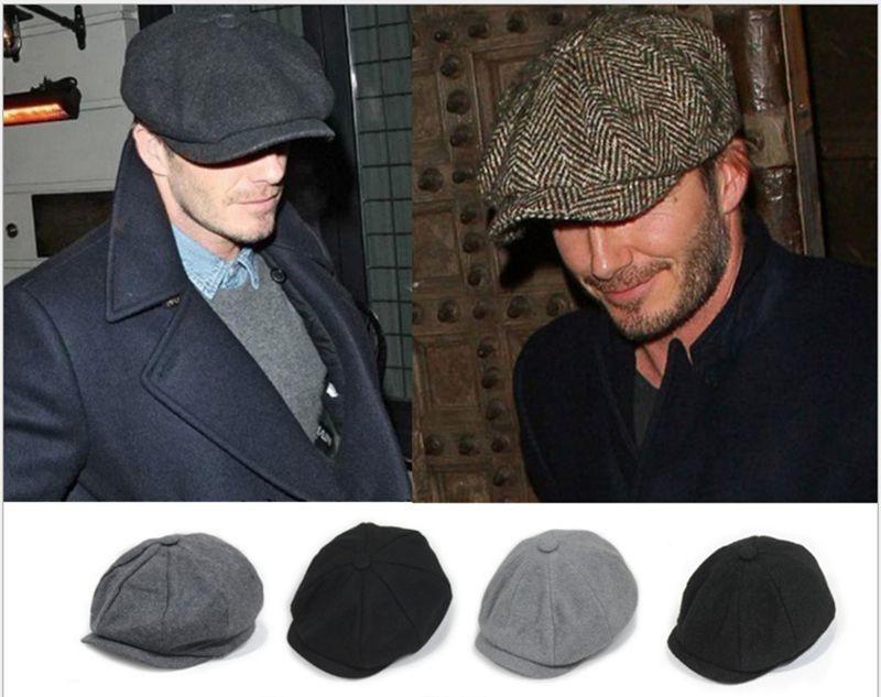 2018 Haisum David Beckham mismo diseño Casual tapa octogonal para ... 6fa71312b71