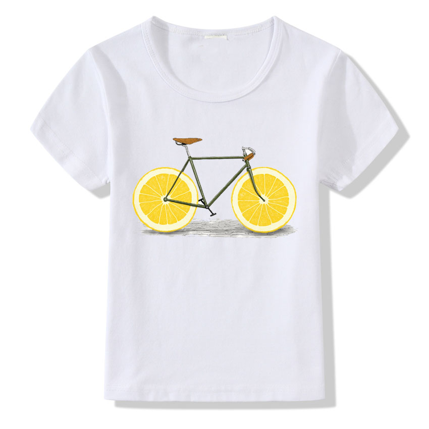 2018 New Lemon Bike Printing T shirt For Kids Summer Style Brand T-shirt Children O-neck Short Sleeve Tshirt Boys Girls Clothes2018 New Lemon Bike Printing T shirt For Kids Summer Style Brand T-shirt Children O-neck Short Sleeve Tshirt Boys Girls Clothes