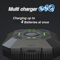 SKYRC e4Q Multi Charger Balance Adjustable charging current four independent ports LED and audible sound for RC Accessories