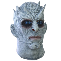 scary latex halloween mask game of thrones night king masks adults walker face zombie movie cosplay - Premium Halloween Masks