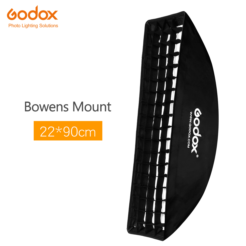Godox softbox 22x90cm 9 x 35 Portable Rectangular Honeycomb Grid Softbox soft box with Bowens Mount