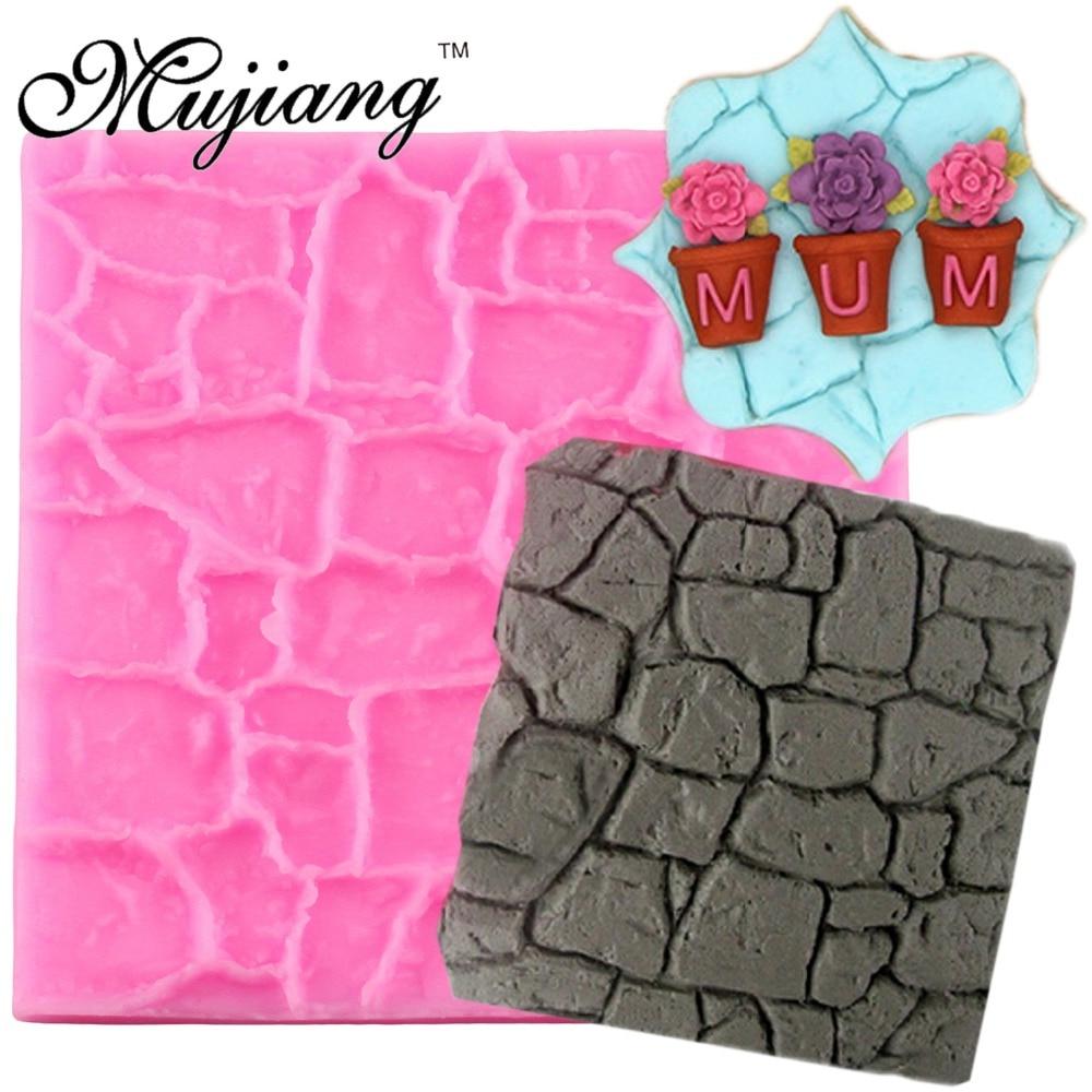 Mujiang Stone Lines Korn Stripe Cake Border Silicone Lace Skiver Cupcake Fondant Cake Dekorationsværktøjer Chokolade Gumpast Forme