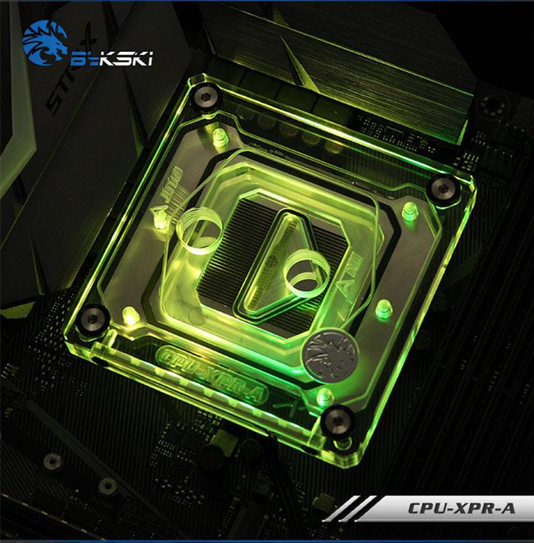 купить Original bykski CPU-XPR-A boutique gift CPU waterblock cooling channel cooler for INTEL LGA 2011/1150/1151/1155/1156/1366/775 по цене 2515.23 рублей
