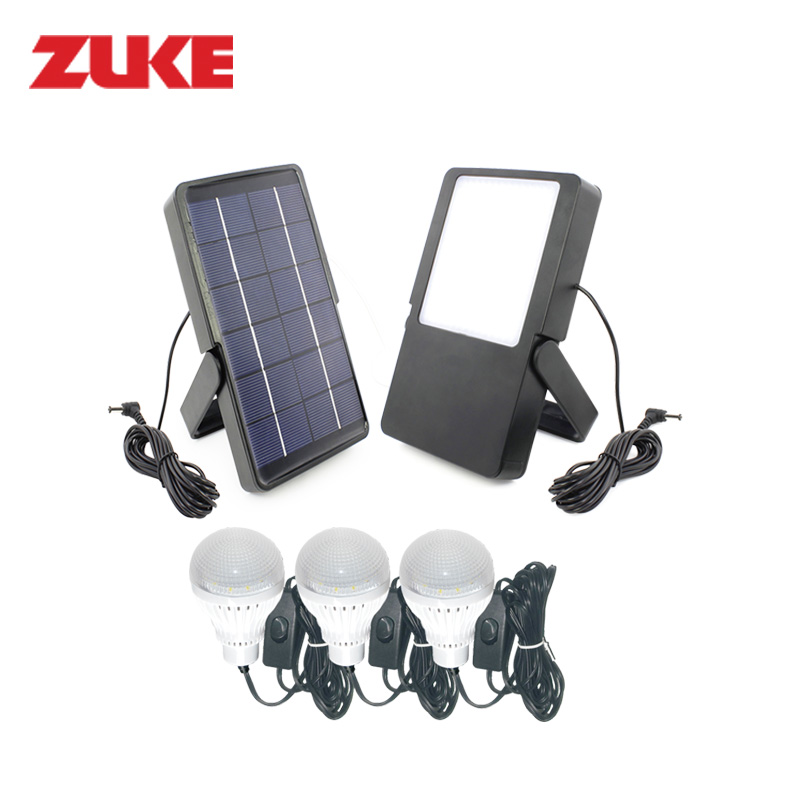 ZuKe Multifunctional Solar Led Bulb Lighting System Home Reading Nightlights Outdoor Camping Lamp With Two LED