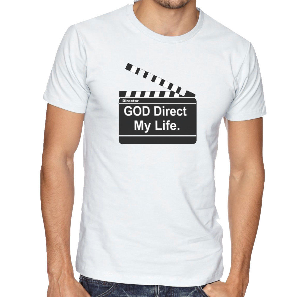 God Direct My Life Religion Clapper Board Director Men Women Unisex O Neck Shirt Plus Size T-Shirt