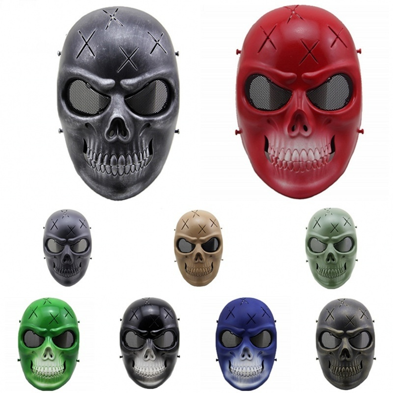 ZJZ06 Spectre Skull Wire Mesh Tactical Airsoft Paintball Full Face Protective Mask Halloween Party