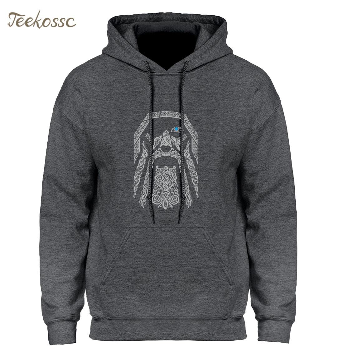 Vikingos Odin personalizado Homens Hoodie Vintage Hoodies sudadera Hombres Nuevo invierno otoño Sudadera con capucha regalos únicos Día del Padre