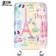Fashion trolley luggage wheels women's universal box abs travel bag luggage,20 24 28 abs pc euro style fashion travel luggage
