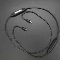 Newest APTX A2DC Bluetooth Cable for CKS1100 E40 E50 E70 LS200 LS300 LS400 CKR90 CKR100 LS50 LS70 Headphone Silver Plating Line