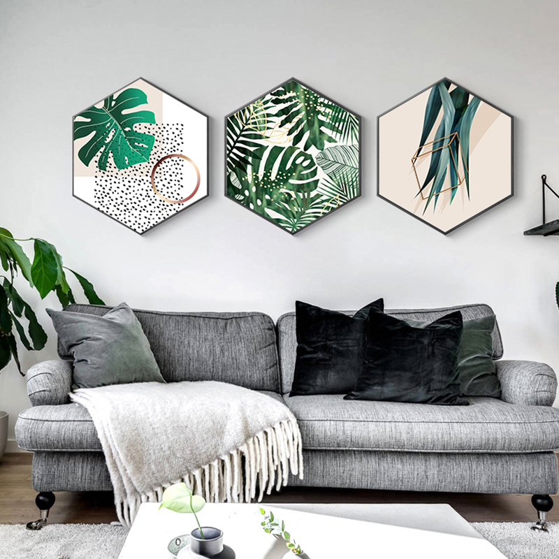 Nordic Green Plant Pineapple Canvas Painting Modern Plant Poster Print Cactus Wall art Picture for Living Room HD Tableaux Salon