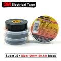 3 m original scotch super 33 + isolierband pvc band gummi schwarz 33 + 3 M einseitig band 19 MM * 20 1 M 100 rollen/fall