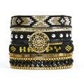 2015 New Bohemia Blackhappy Summer HIPANEM Bracelet Handmade DIY Flower Beach Bracelet Magnetized Brazilian Glamour Jewelry