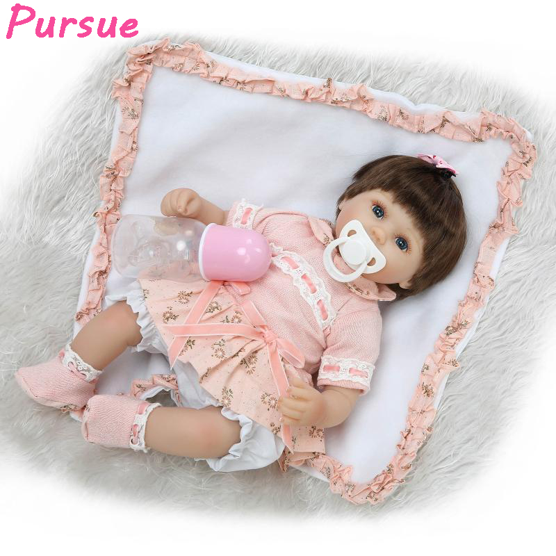 Pursue 16/42cm American Girl Dolls Silicone Baby Dolls for Sale realista Life Like Dolls Toys for Children Doll Christmas Gift pursue 18 new design lifelike american girl baby doll naked plastic american baby girl princess doll toy gift for children girl