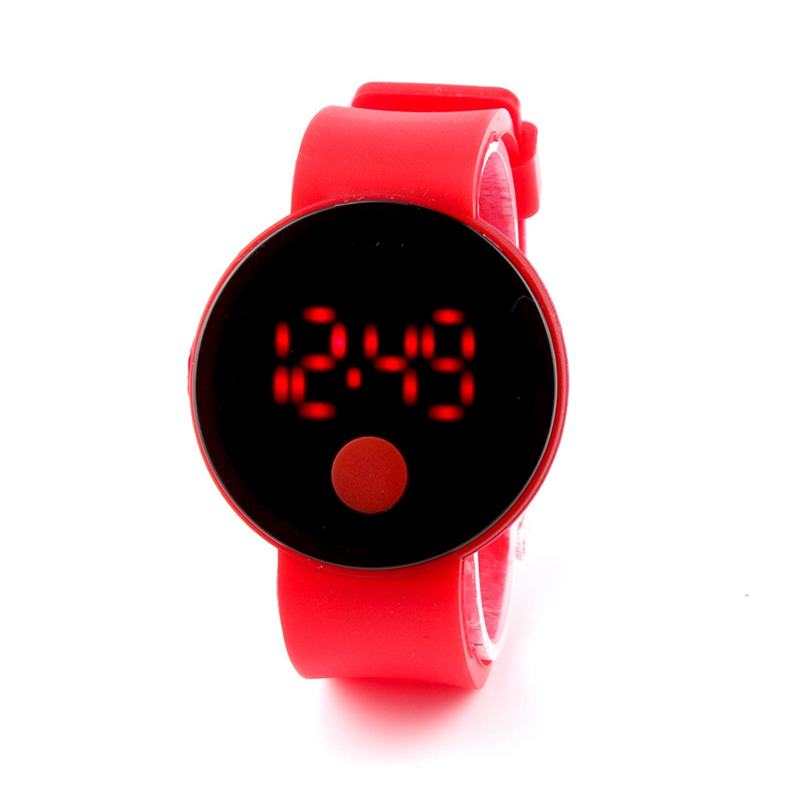 Hot Sale 10 Candy Colors Sport Students Chirldren Kids Watches Electronic Touch LED Wristwatches Fashion Digital