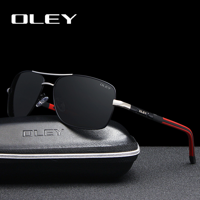 OLEY Brand 2018 Classic Men Aluminum Sunglasses Polarized HD Glasses UV400 Mirror Male Sun Glasses Women For Men Oculos de sol