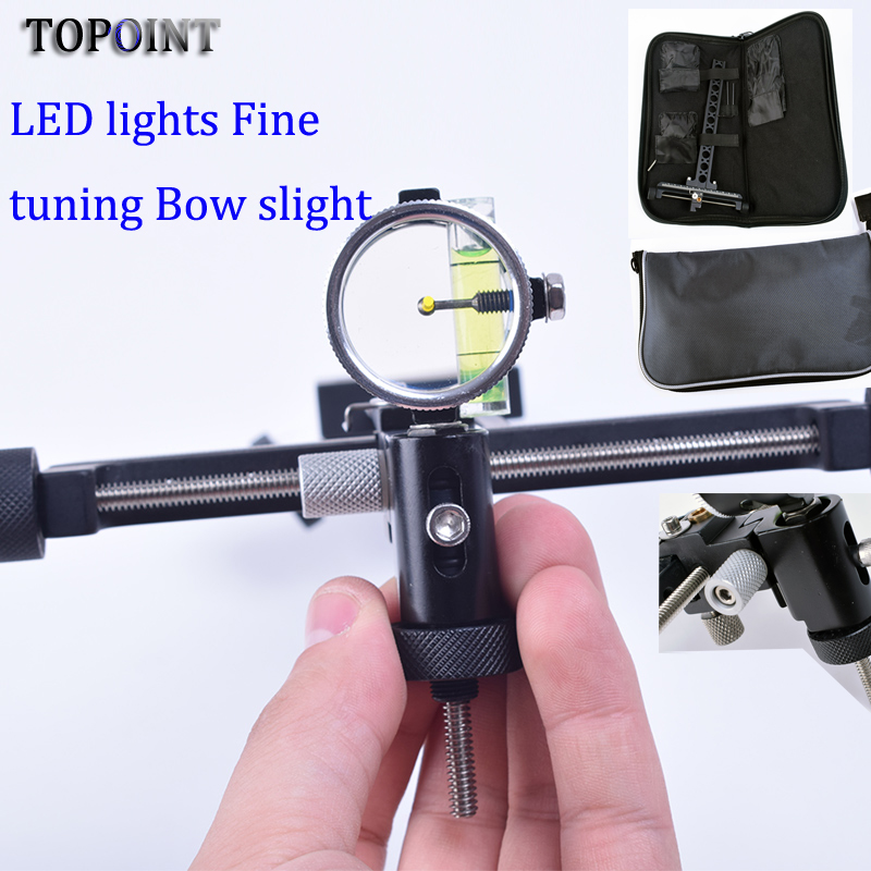 Super compound bow and arrow sight sight needle long pole sight with 4x lens competitive aiming with bag archery
