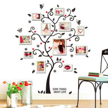 Photo Frame Tree DIY 3D Wall Sticker Home Decoration Living Room Poster Art Decals Wall Stickers for Kids Room Decor(China)