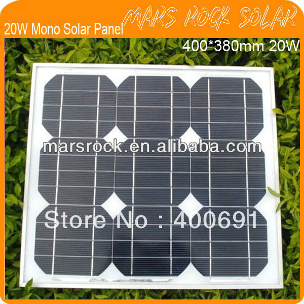 ФОТО 20W 18V Monocrystalline Silicon Solar Module with 36 Cells Arrangment,High Performance,Long Lifecycle,Nice Appearance,Waterproof