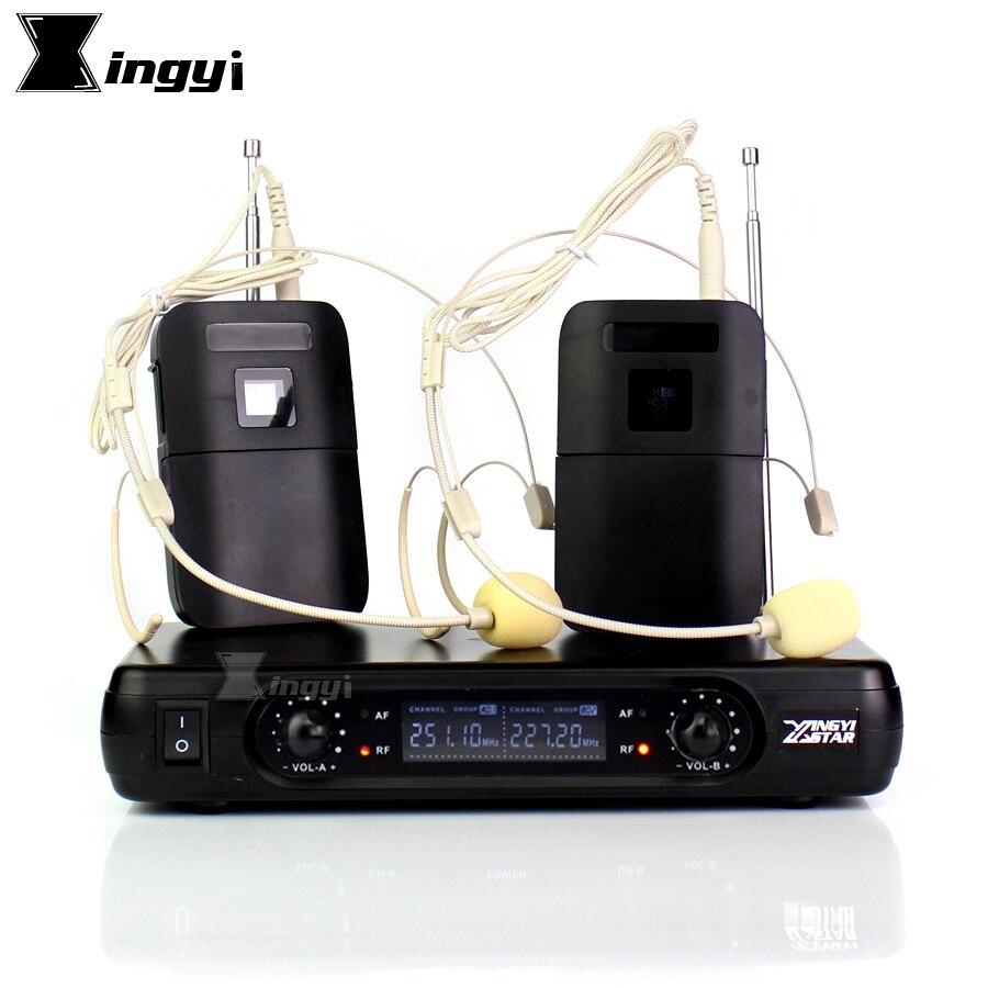 Micro professionnel sans fil micro porté casque récepteur numérique sans fil 2 canaux BLX1 Bodypack transmetteur pour le chant de scène