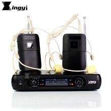 Professional Wireless ไมโครโฟน Headworn ไมโครโฟน 2 ช่องดิจิตอลเครื่องรับสัญญาณไร้สาย BLX1 Bodypack Transmitter สำหรับเวทีร้องเพลง