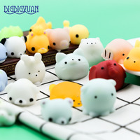 30Pcs Lot Funny Squishy Slow Rising Squeeze Lovely Cute Soft Mini Animal Pig Rabbit Elephant Toy