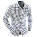 2015 мужская Одежда мода Рубашки новый мужской цвет блока плед тонкий осень/зима комфортно с длинными рукавами рубашки темперамент