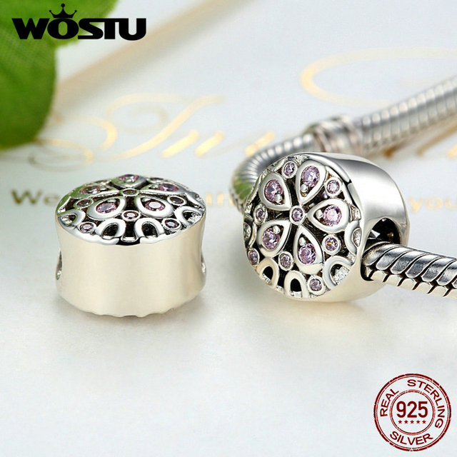 100% 925 en argent Sterling coeur éclate en fleurs perles breloque Fit Original WST Bracelet authentique bricolage pour la fabrication de bijoux