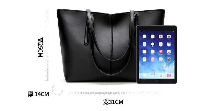 جلد طبيعي حقيبة يد العلامة التجارية الفاخرة النساء حقائب السيدات حقيبة اليد حقيبة اليد سعة كبيرة حقائب كتف مكتب الإناث جديد C826