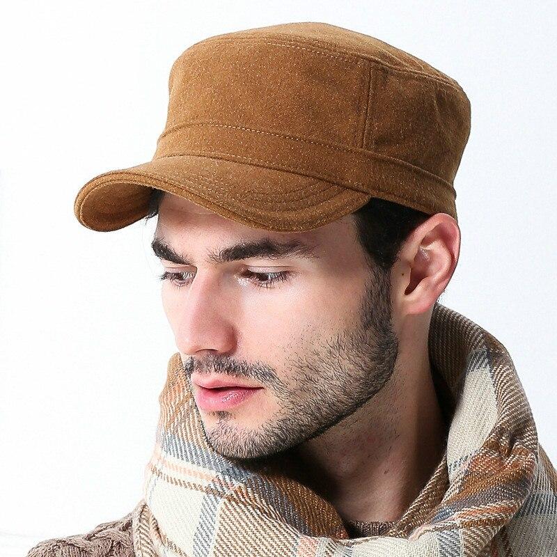 Deepom gorra militar plana hombres al por mayor moda de invierno sombreros  de mujer Gorras Planas 2a0e15c5d84