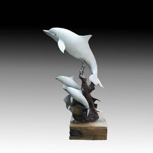 The Underwater World Aquarium Dolphin fish copper sculpture ornaments animal model room furnishings Jewelry Gift Club