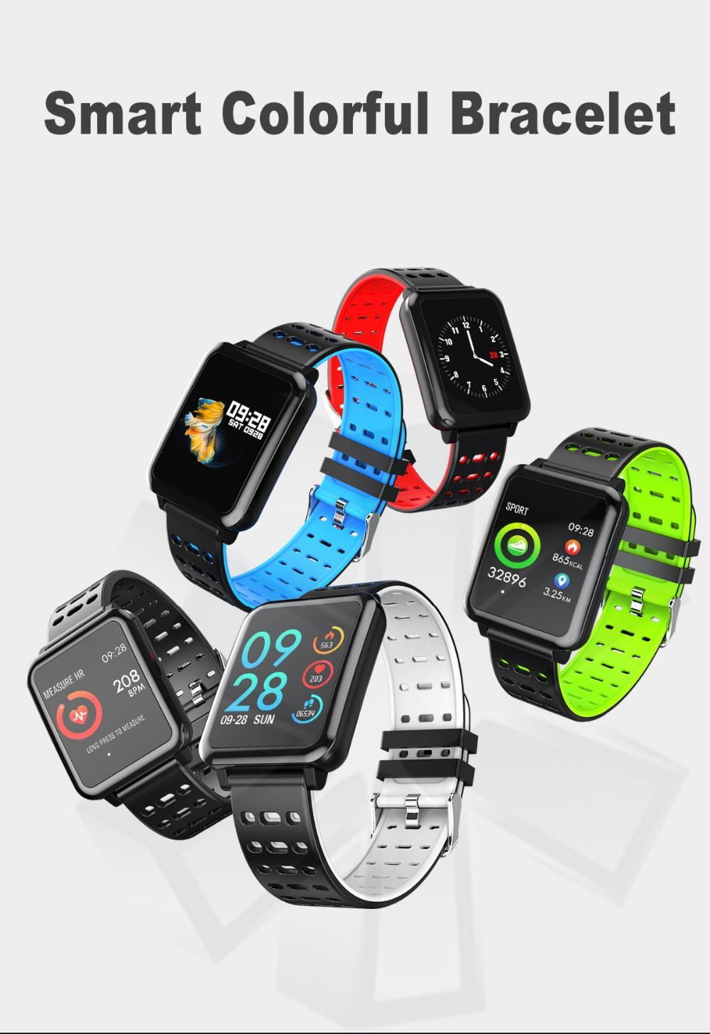 T2 Smartwatch IP67 Waterproof Wearable Device Bluetooth Pedometer Heart Rate Monitor Color Display Smart Watch For AndroidIOS (1)