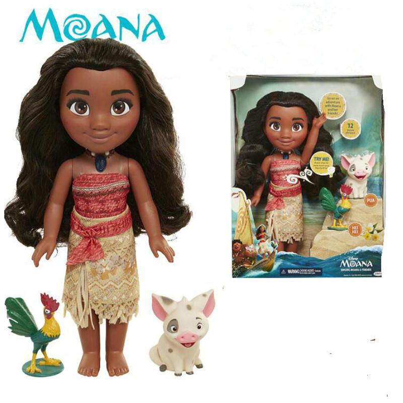 2018  Movie Vaiana Moana Princess Maui Chief Tui Tala Heihei Pua Action Figure Decoration Toys For Kids Birthday Gift