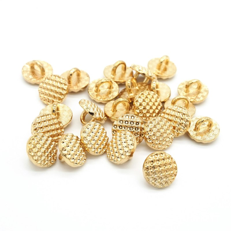 50pcs 9mm Sewing Buttons Classic Golden Round Button for Clothes Accessories DIY Material