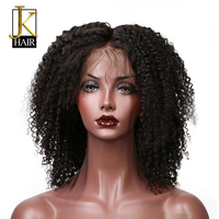 100 Brazilian Virgin Hair Kinky Curly Wigs Lace Front Wig Full Lace Wig Human Hair Wigs
