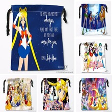 Custom Sailor Moon Drawstring Bags Printing Travel Storage Mini Pouch Swim Hiking Toy Bag Size 18x22cm#180412-11-31