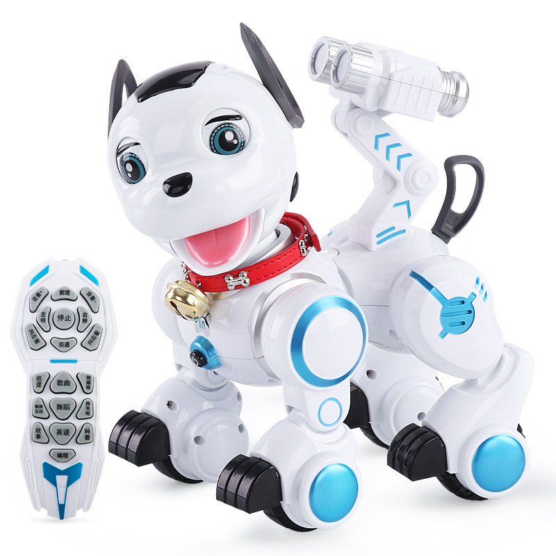 2018 Kids Pet Electric RC Intellegent Programming Dog K10 Walking Music Electronic Machine Remote Control Interactive Dog Toy pet safe electronic shock vibrating dog training collar with remote control 2 x aaa 1 x 6f22 9v