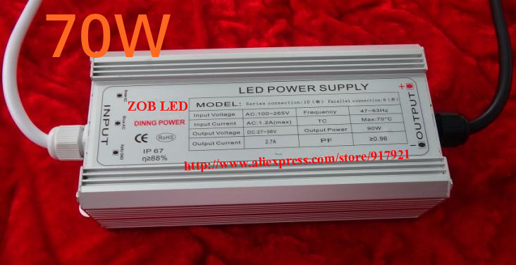 70w led driver DC40V,2.1A,high power led driver for flood light / street light,constant  ...