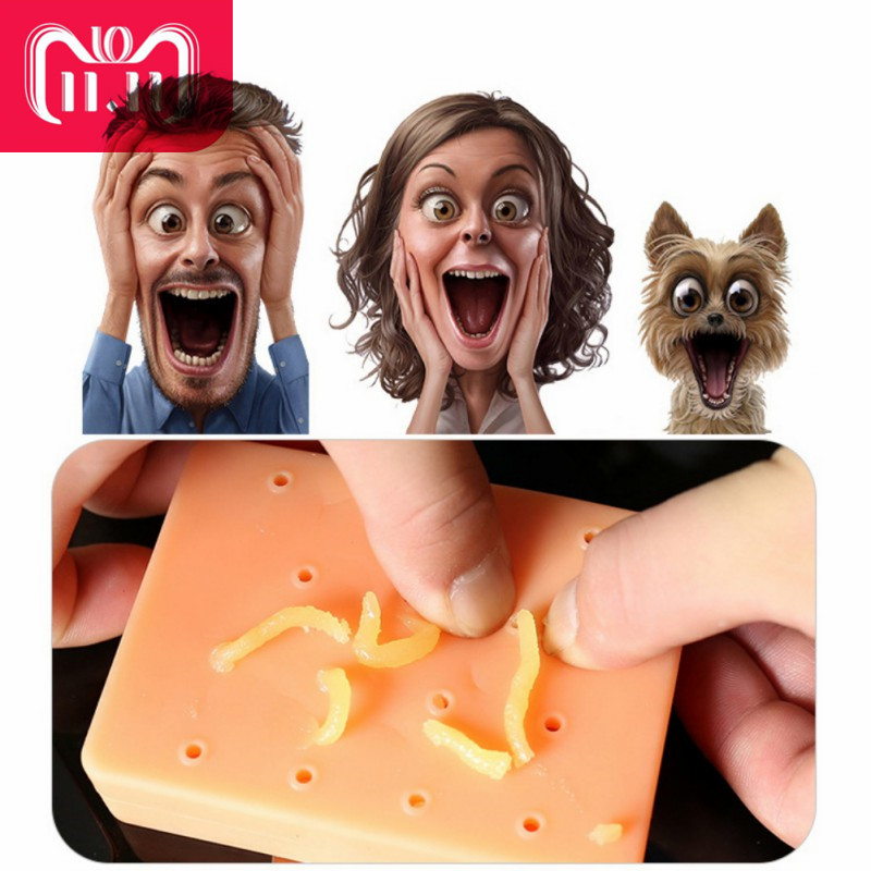 Funny Novelty Pop Toy Interesting Stress Reliever Toys Peach Pimple Popping Popper Remover Stop Picking