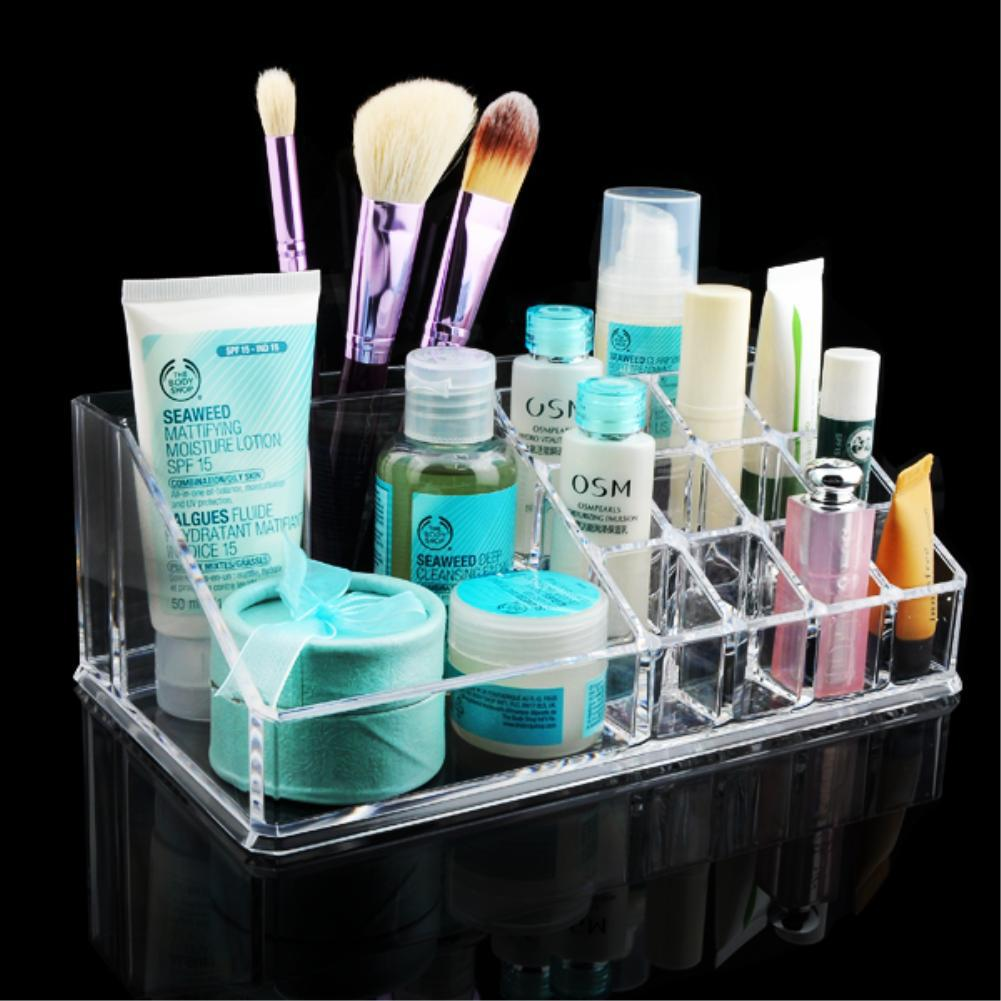 WITUSE Clear Acrylic Organiser Brushes Lipstick Holders Storage Box Acrylic Makeup Organizer Cosmetic Make Up 2016 Hot ...