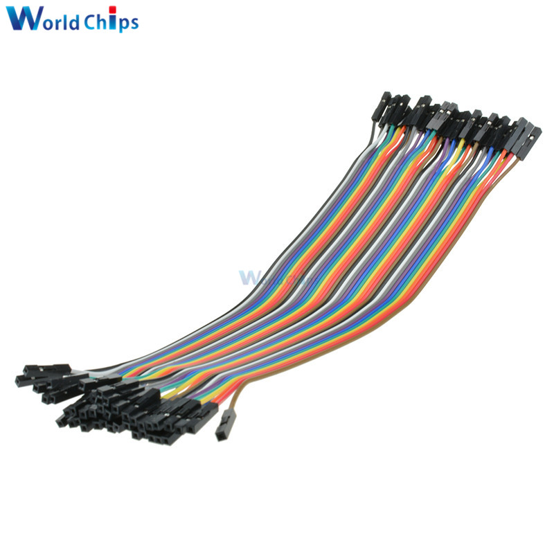 1P 10 CM  a row of 40 root Arduino 5PCS 40P color dupont cable 2.54mm 1P