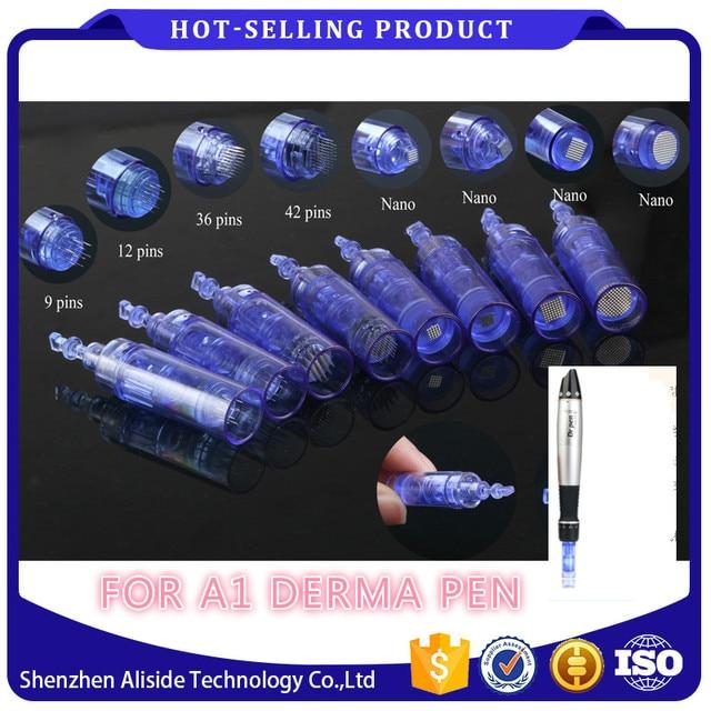 A1 القلم الكهربائي درما الإبر 100 قطعة حربة 36 دبوس MYM خرطوشة للسيارات ميكرونيدل قلم ديرما 36 دبوس Dr Pen إبرة تلميح
